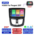 Navifly M300 3+32G Android10 Car Video For Peugeot 207 Car DVD Player Navigation IPS DSP Carplay Auto HD-MI