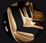 MyMats Черные передние узкие накидки на сиденья из алькантары