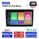 Navifly M300 3+32G Android10 Car Video For Fiat Bravo Car DVD Player Navigation IPS DSP Carplay Auto HD-MI