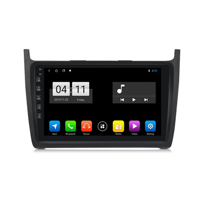 Navifly Android 9 IPS 1G+16G Car Auto headunit GPS Navigation for Volkswagen VW POLO 2008-2015 RDS Radio Video GPS DSP carplay