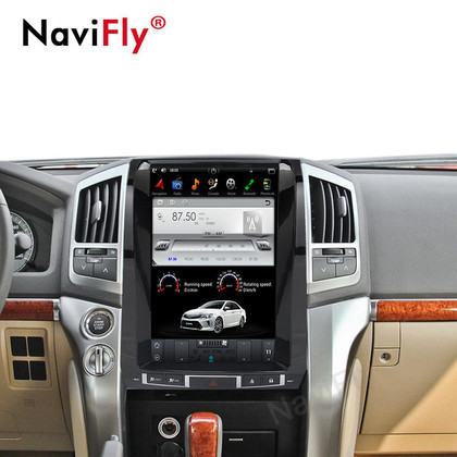 NaviFly 13'' Quad-core 4G+64G ROM Tesla Vertic Android 7.1.2 Car radio player gps for TOYOTA LAND CRUISER LC200 2008-2015
