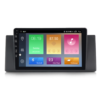 NaviFly M100 Voice Control 2.5D IPS Screen Android 9 1+16G Car DVD Player For BMW E53 Car Radio GPS Navigator