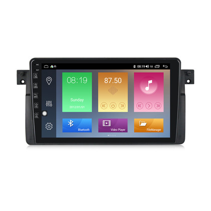 NaviFly M100 Voice Control 2.5D IPS Screen Android 9 1+16G Car DVD Player For BMW E46 M3(1998-2006) Car Radio GPS Navigator